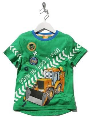 M&Co JCB slogan print t-shirt