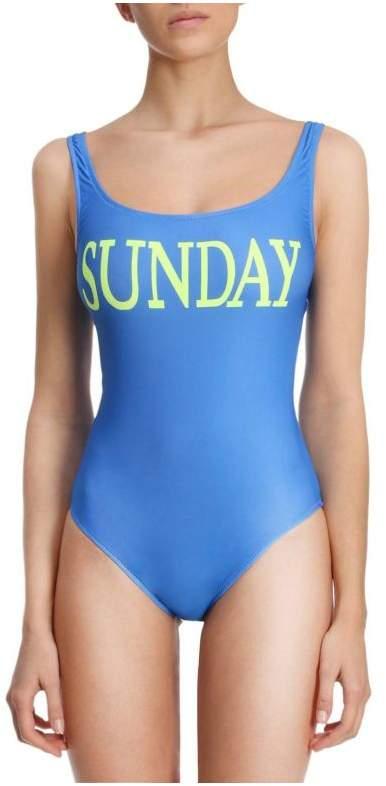 Swimsuit One-piece Swimsuit Rainbow Week With Sunday Print