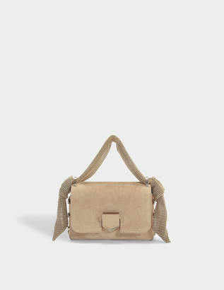 Jimmy Choo Lockett Mini Bag in Nude Suede