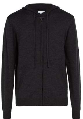 Sunspel Zip Through Wool Hooded Sweater - Mens - Charcoal