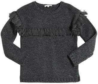 Chloé Tricot Cotton & Wool Blend Sweater