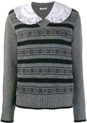 Miu Miu Peter Pan collar jumper