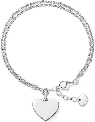 Thomas Sabo Sterling silver Love Bridge engravable bracelet