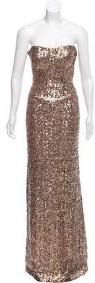 Jenny Packham Strapless Sequin Gown