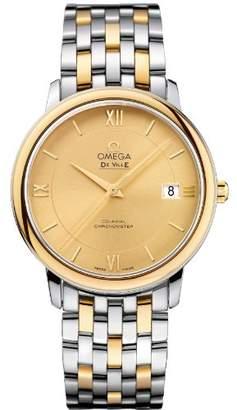Omega Women's Yellow Gold Bracelet & Case Swiss Quartz Champagne Dial Analog Watch 424.20.37.20.08.001