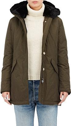 Woolrich John Rich & Bros. Women's Fur-Trimmed Down Parka-DARK GREEN $795 thestylecure.com