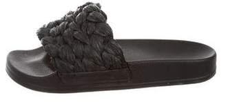 Robert Clergerie Rafia Slide Sandals w/ Tags