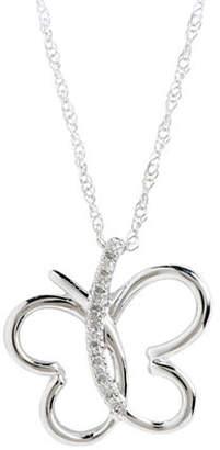 Tag Heuer FINE JEWELLERY 10Kw Butterfly Pendant W/.03Ct Diamonds