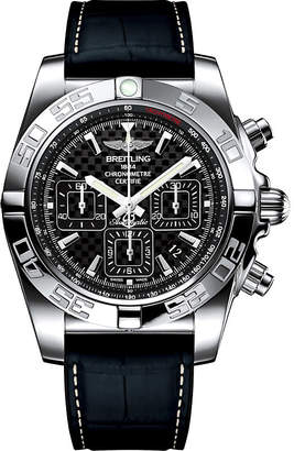 Rado AB011012/BF76.296S Chronomat 44 stainless steel and leather chronograph watch