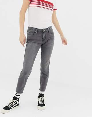 Lee Jeans Scarlett Mid Rise Raw Hem Skinny Jeans