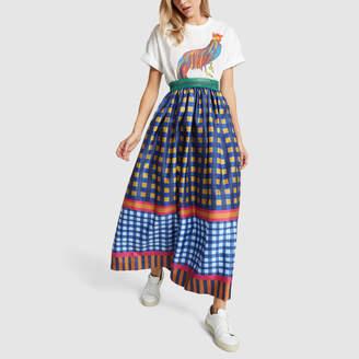 d4920d67d2 Stella Jean Gonna Checked Skirt