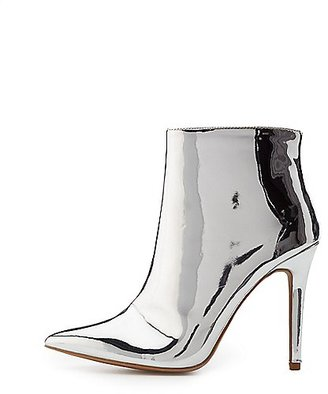 Qupid Metallic Ankle Booties $38.99 thestylecure.com