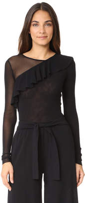 Fuzzi Long Sleeve Blouse $275 thestylecure.com