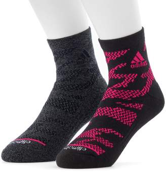 adidas Men's 2-pack Tiger climalite High Quarter Socks