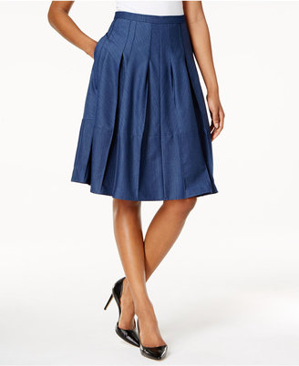 Tommy Hilfiger Denim A-Line Skirt $89 thestylecure.com