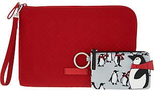 Vera Bradley Iconic Microfiber RFID Wristletwith ID Case