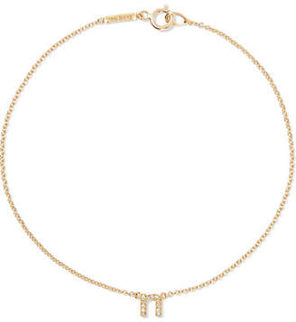 Jennifer Meyer Letter 18-karat Gold Diamond Bracelet