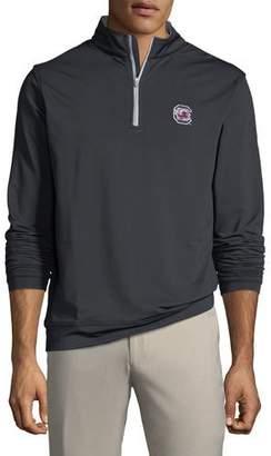 Peter Millar Men's University of South Carolina Perth 1/4-Zip Sweater, Black