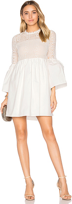 Endless Rose Flare Sleeve Lace Mini Dress in White $77 thestylecure.com
