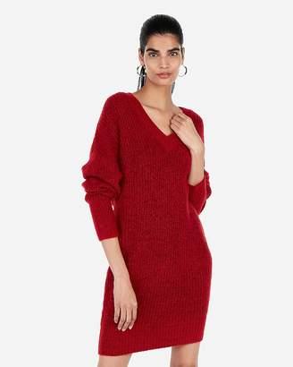 Express Cozy Banded Bottom Oversized Sweater Dress