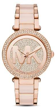 Michael Kors Parker Monogram Watch, 39mm