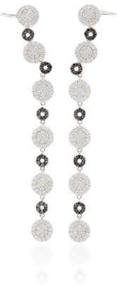 Graziela 18K White Gold Black And White Diamond Ear Cuffs