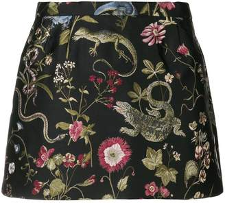 RED Valentino floral embroidered mini skirt