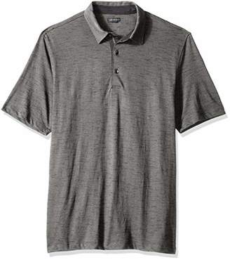 Van Heusen Men's Big and Tall Never Tuck Slub Short Sleeve Polo