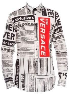 Versace Newspaper Logo Shirt
