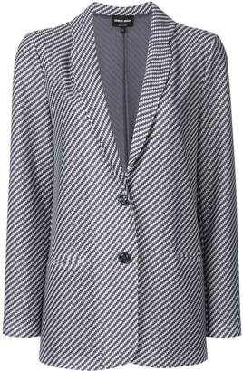 Giorgio Armani woven straight-fit jacket