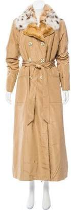 Valentino Fur Lined Trench Coat