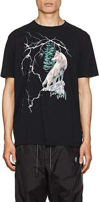 Marcelo Burlon County of Milan Men's Wolf-Print Cotton T-Shirt