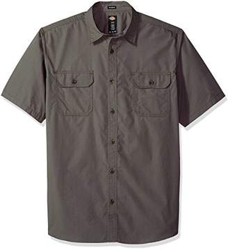 Dickies Men's Relaxed Fit Ripstop Short Sleeve Shirt