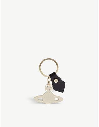 Vivienne Westwood Black Gold Toned Orb Keyring
