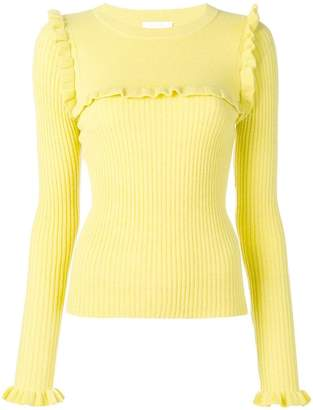 See by Chloe ruffle detail sweater