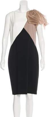 Paule Ka Colorblock Knee-Length Dress