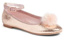 Ruby & Bloom Kilie Faux Fur Pom Flat