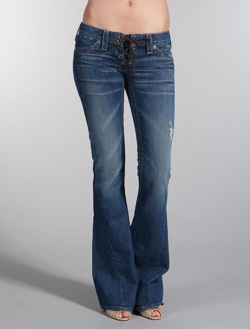 True Religion Cassidy Lace Up Jean