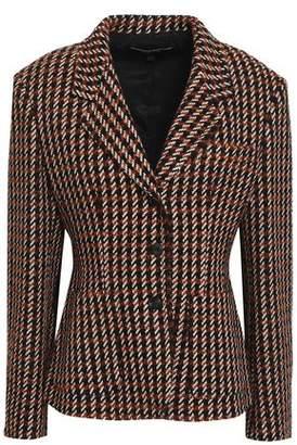 Derek Lam Suede-trimmed Boucle-tweed Blazer
