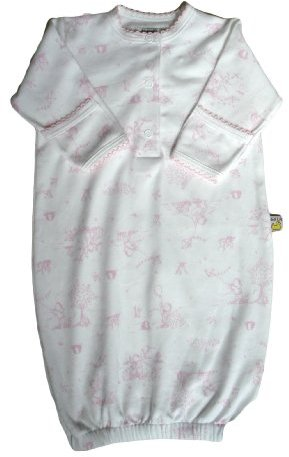 Noa Lily Gown, Pink Toile, Newborn