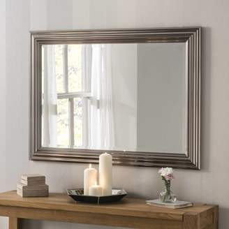 Decorative Mirrors Online Isla Rectangular Mirror White, Chrome, Champagne Silver