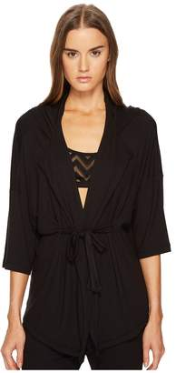 Blend of America ELSE Chevron Cashmere Tunic Jacket with Hoodie Women's Coat