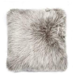 LUX FAUX FUR Belton Square Faux Fur Pillow