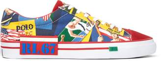 Ralph Lauren Sayer Collage Canvas Sneaker