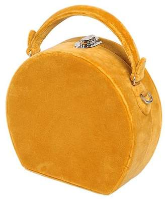 Bertoni 1949 Bertoncina Velvet Top Handle Bag