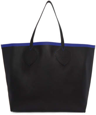 Burberry Reversible Black and Blue Contrast Tote