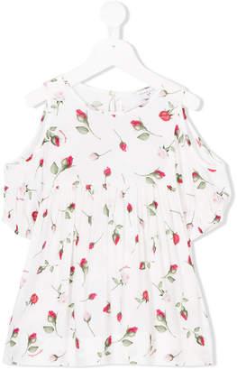 MonnaLisa rose print off-shoulder blouse