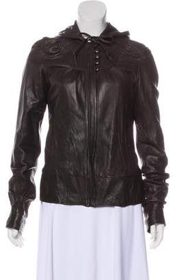 Mike & Chris Long Sleeve Leather Jacket