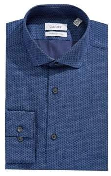 Calvin Klein Slim Fit Printed Dress Shirt