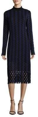 Diane von Furstenberg Turtleneck Wool Midi Dress